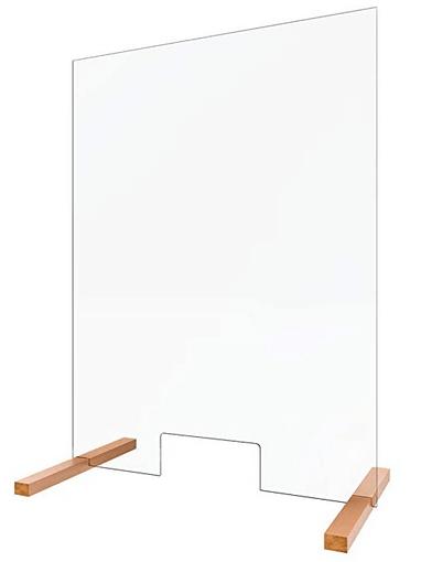 Hochkant Hygieneschutzwand